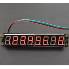 Gravity rotes 8-Digit 7-Segment LED-Display