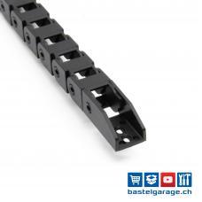 10x10mm Nylon Kabelschlepp 1m