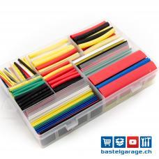 Schrumpfschlauch Set diverse Farben 330 Stück / Total 17m