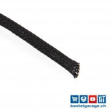 1m PET Geflechtschlauch Schwarz 6-19mm