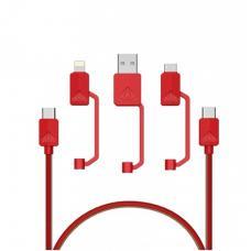 Xtar PDC-3 USB Universal Kabel Rot 1.2m