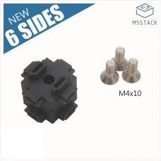 12 Stück 6-Seiten Eckverbinder für 1515 Aluminiumprofil M5Stack