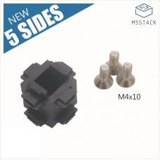 12 Stück 5-Seiten Eckverbinder für 1515 Aluminiumprofil M5Stack