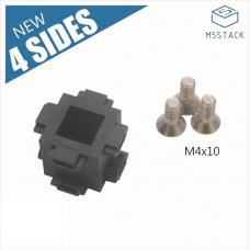 12 Stück 4-Seiten Eckverbinder für 1515 Aluminiumprofil M5Stack
