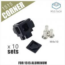 10 Stück 3-Seiten Eckverbinder für 1515 Aluminiumprofil M5Stack