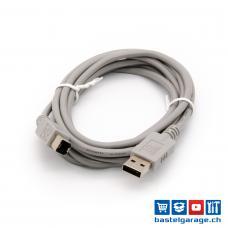 USB-Kabel 2.0 A-B 200cm Grau