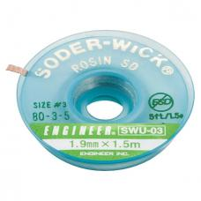 Engineer SWU-03 Entlötlitze 1.9mm / 1.5m mit Flussmittel