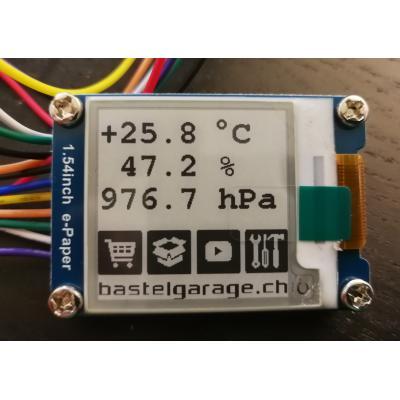 BME280 e-Ink Display mit ESP32 ansteuern