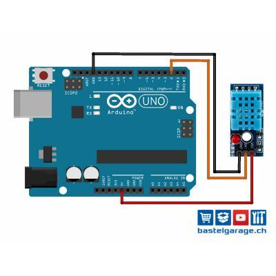 DHT11 / DHT22 mit dem Arduino UNO auslesen Anleitung