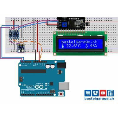 Digitales Thermometer mit Hygrometer Bauanleitung für Arduino mit Si7021