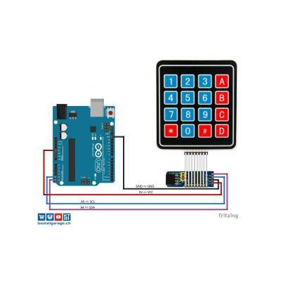 Folientastatur mit i2C Portexpander PCF8574