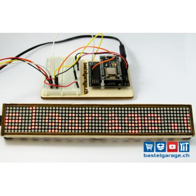 DOT Matrix 8x8 Wlan Display mit ESP8266 und Arduino