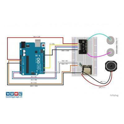 Mit Touch Sensor MPR121 Sound Effekte abspielen