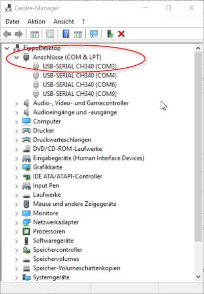 Arduino CH340G Treiber Probleme Windows 10 oder 8